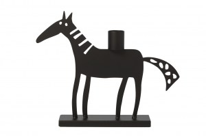 910786 Brunte Black Candle holder