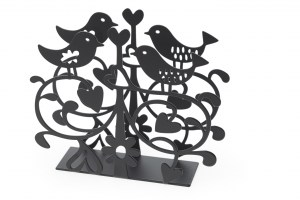 Lovebirds napkin holder Black 910987