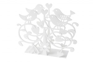 Lovebirds napkin holder White 910988